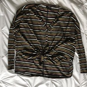 COPY - Long Sleeve Waffle Knit Button Up